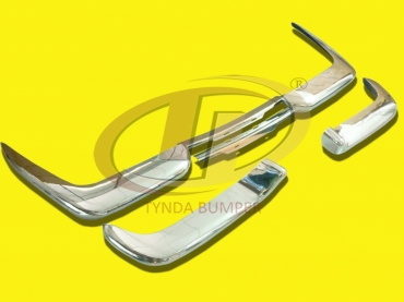Volvo P1800 Jensen Cow Horn (1961-1963) bumpers stainless steel polished