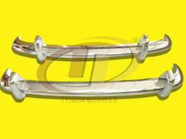 VW Type 3 1963-1969 bumpers stainless steel polished