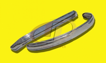 VW Bus T1 Split Screen (1950-1957) bumpers stainless steel polished